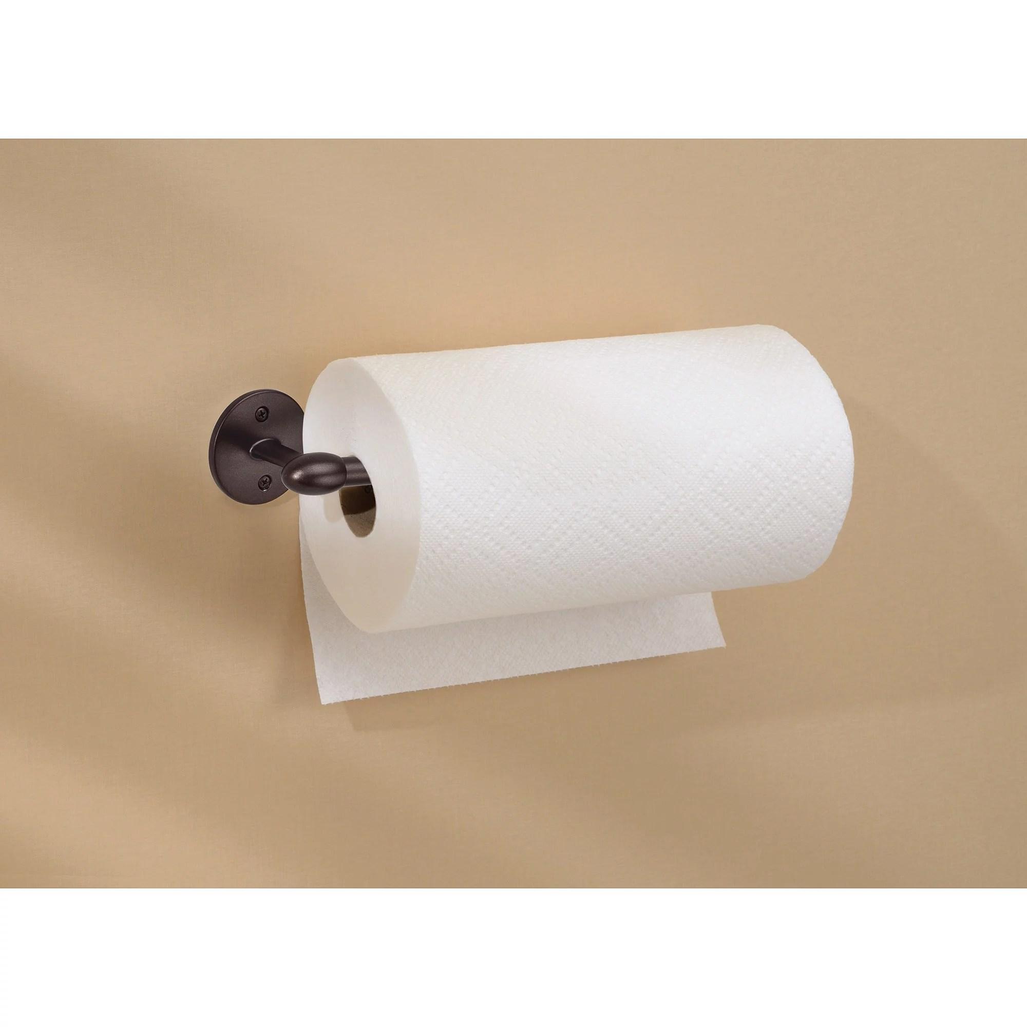 kitchen paper towel holder island table combo interdesign orbinni wall mounted walmart com