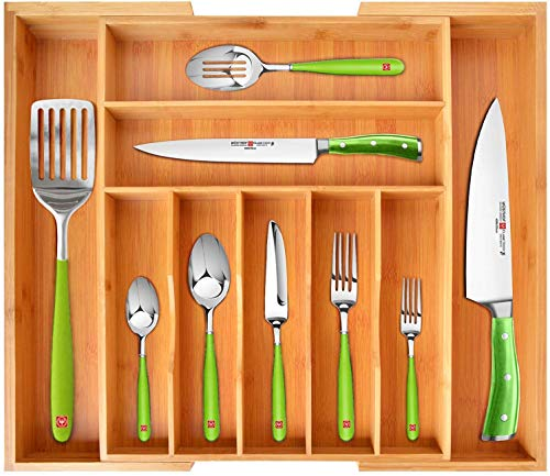 Royal Craft Wood Bamboo Kitchen Drawer Organizer Expandable Silverware Organizer Utensil Holder And Cutlery Tray With Grooved Drawer Dividers For Flatware And Kitchen Utensils 9 Slots Walmart Canada