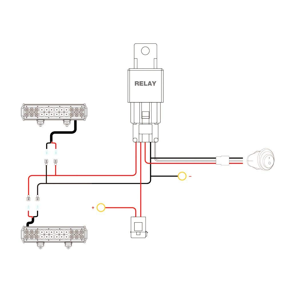 medium resolution of nilight nilight 16awg wiring harness kit 12v fuse relay on off switch 2 year warranty walmart com