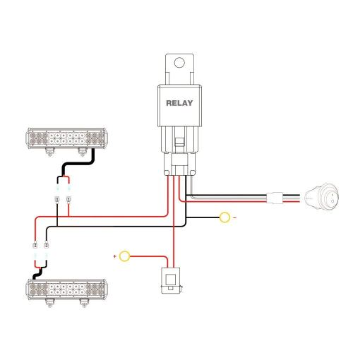 small resolution of nilight nilight 16awg wiring harness kit 12v fuse relay on off switch 2 year warranty walmart com