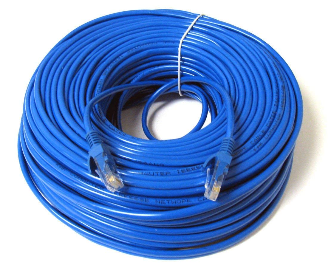 medium resolution of konex tm ethernet cable cat6 200ft blue network wire cat 6 patch cable cord internet cable with snagless rj45 connectors