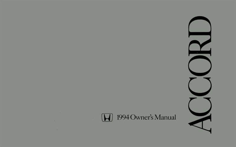 Bishko OEM Maintenance Owner's Manual Bound for Honda