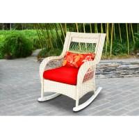 Woven Porch Rocking Chair, White - Walmart.com
