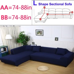 L Shaped Sectional Sofa Slipcovers Aus Europaletten Selbst Bauen 3 Seat 433 Shape Elastic