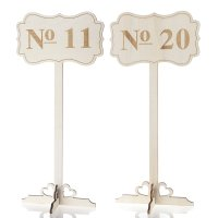 wooden wedding table numbers 11-20, tall rustic wood ...