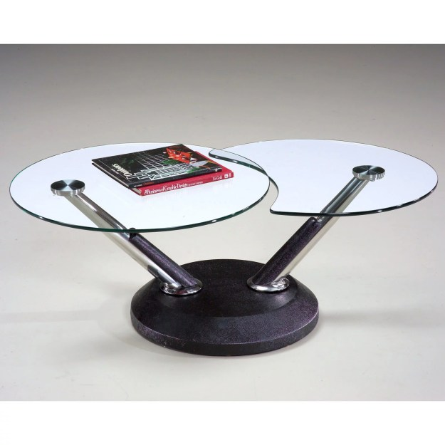 magnussen 38000 modesto metal and glass swivel coffee table