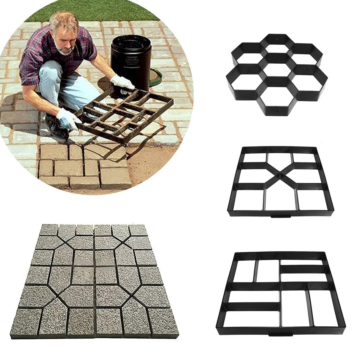 diy path maker mold garden paving mould patio concrete stone lawn walk maker slabs path brick
