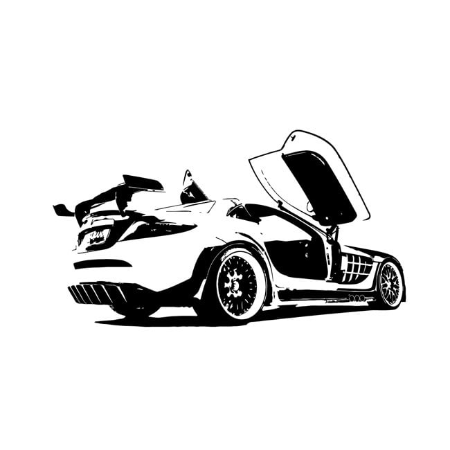 Vsgraphics llc Mclaren Speeding Race Car Vinyl Decal