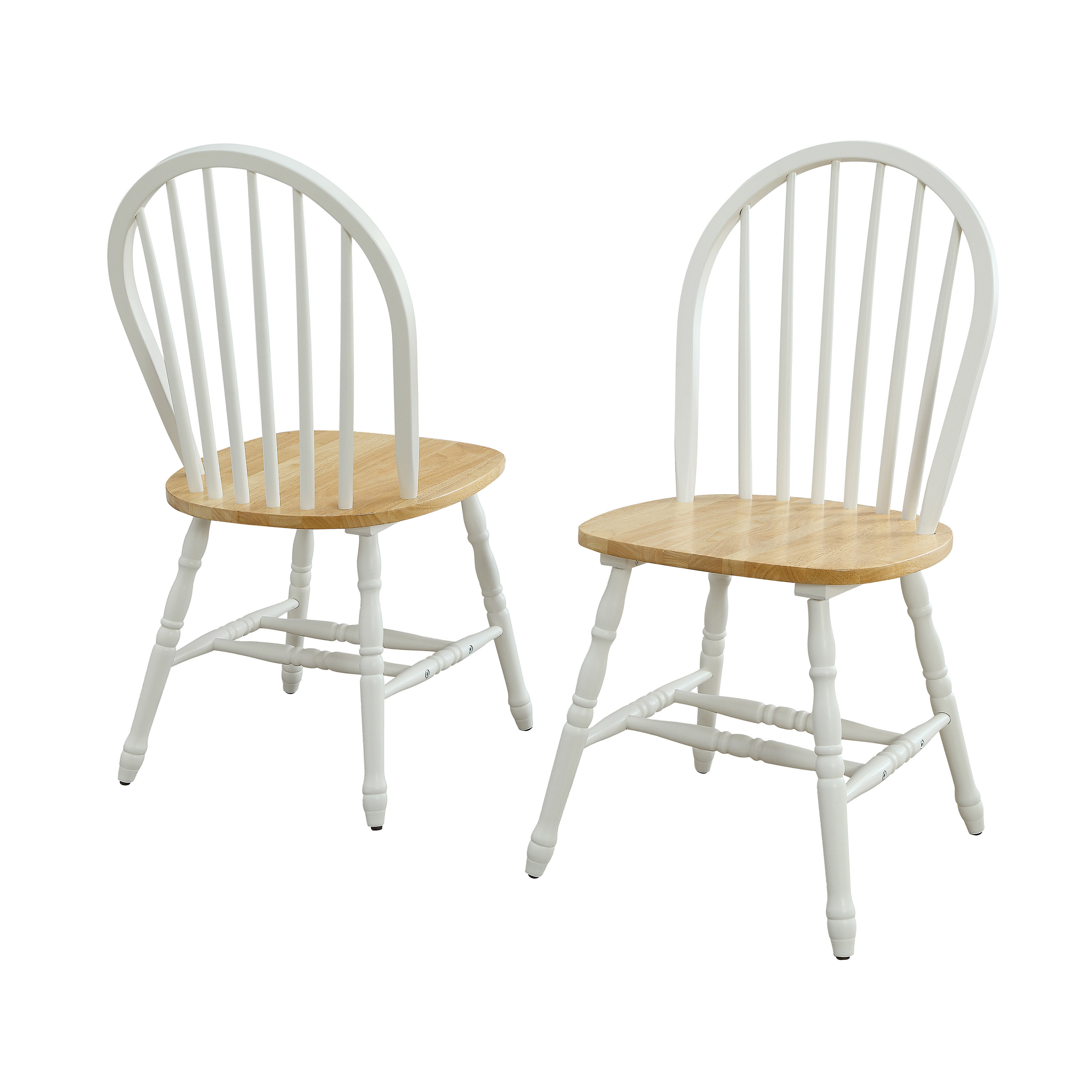 White Wooden Dining Chairs Better Homes And Gardens Autumn Lane Windsor Solid Wood Dining Chairs White And Oak Set Of 2