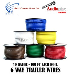 6 way trailer wire light cable for harness led 100ft each roll 10 gauge 6 rolls walmart com [ 1200 x 1200 Pixel ]
