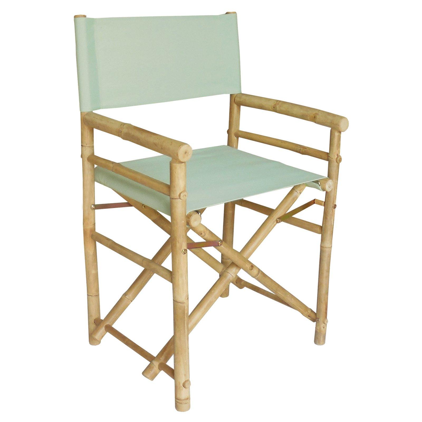 bamboo directors chairs folding chair beach canvas cover set walmart com
