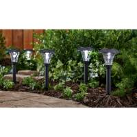 Mainstays Pebbled Cone 8-Piece Solar-Powered Landscape ...