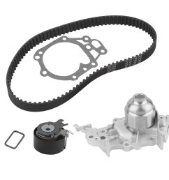 car engine timing belt kit cambelt timing suit with water pump tensioner pulley for renault clio mk ii iii 1 2 16v [ 1010 x 1010 Pixel ]