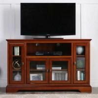 WE Furniture 52-inch Rustic Brown Highboy Style Wood TV ...