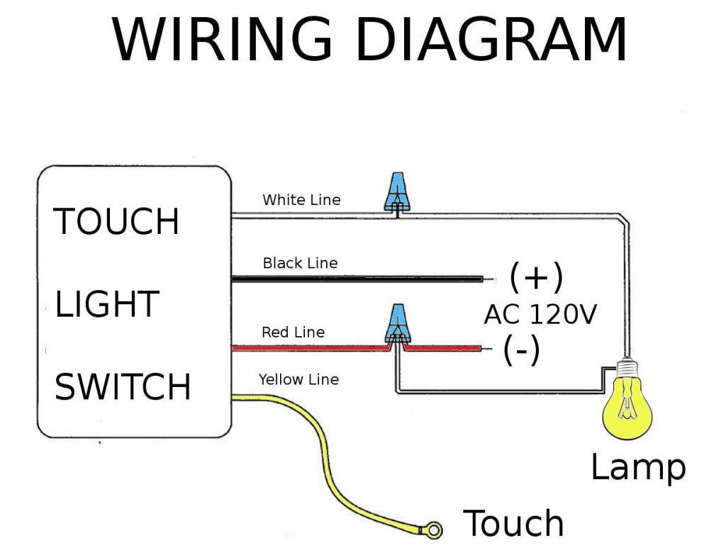 medium resolution of hqrp touch light switch lo me hi off table lamp module sensor 150w 120v hqrp coaster walmart com