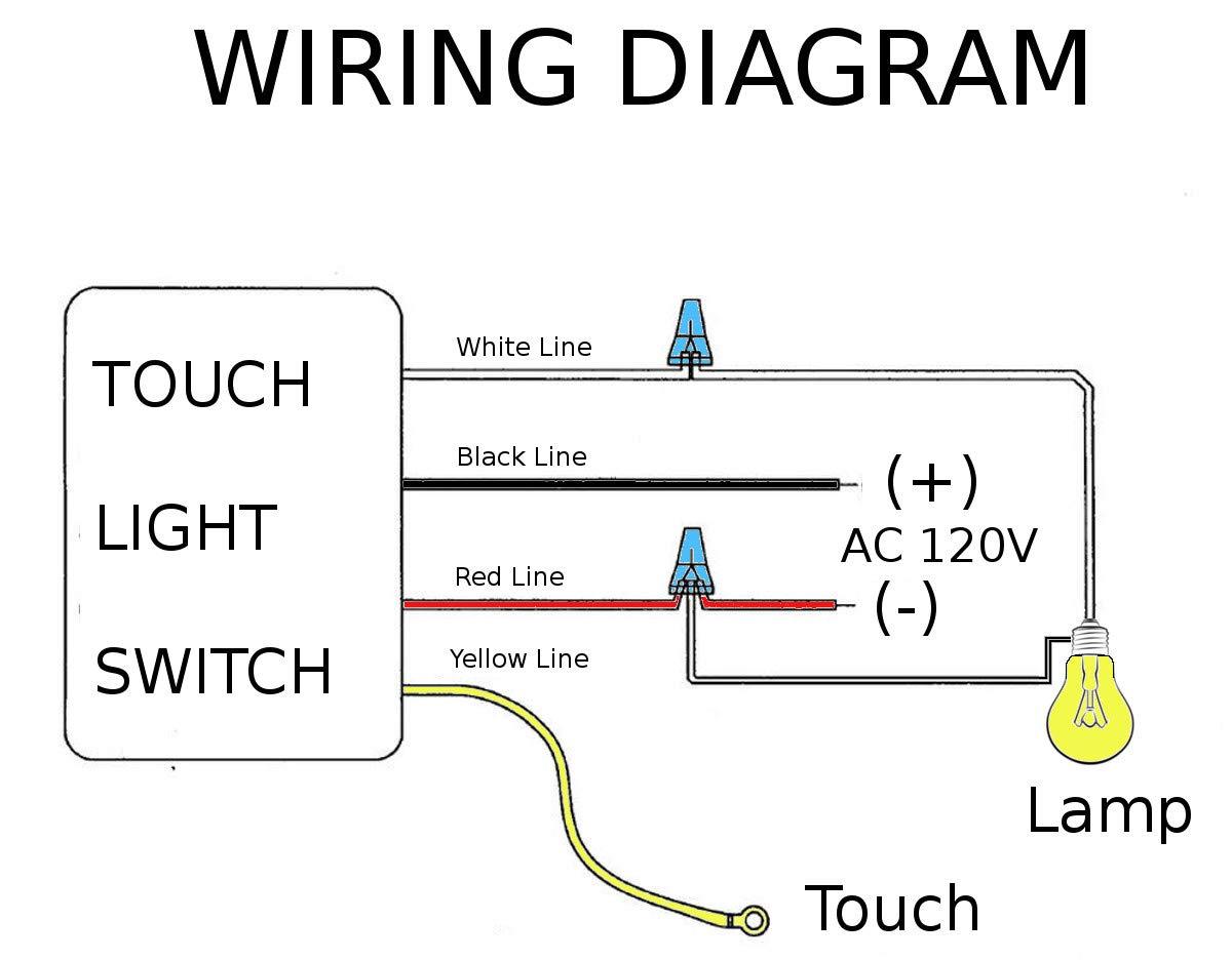hight resolution of hqrp touch light switch lo me hi off table lamp module sensor 150w 120v hqrp coaster walmart com