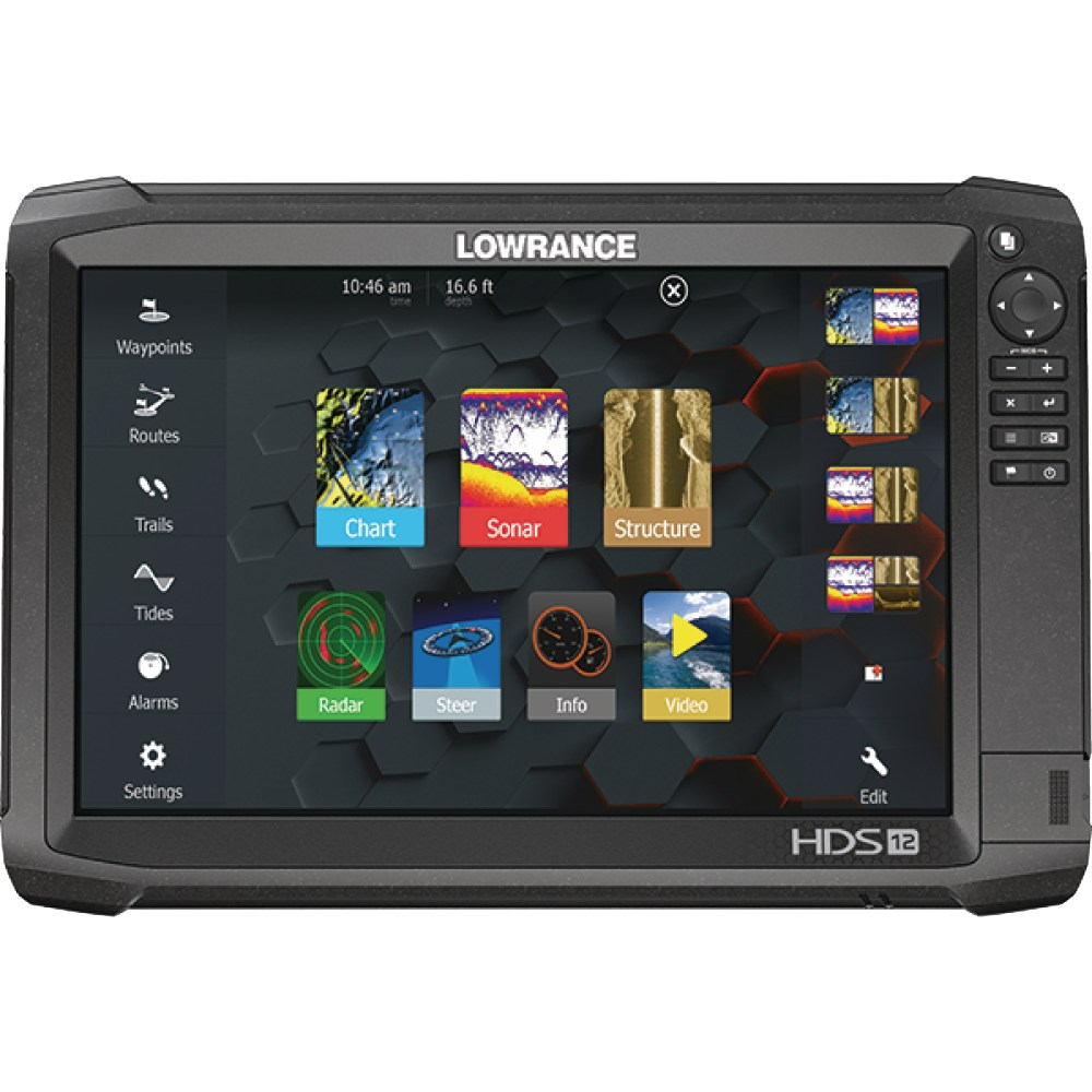 medium resolution of lowrance 000 13686 002 hds carbon 12 fishfinder chartplotter with structurescan 3d sidescan imaging downscan imaging 12 display walmart com