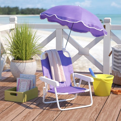 kids beach chair with adjustable umbrella replacement cushions zoomie woodman walmart com