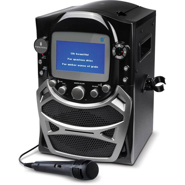 Singing Machine Cd Karaoke Bluetooth System With Built-in 5 Color Tft