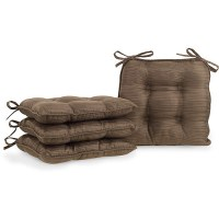 Fairfield Chair Pads, Set of 4, Brown - Walmart.com