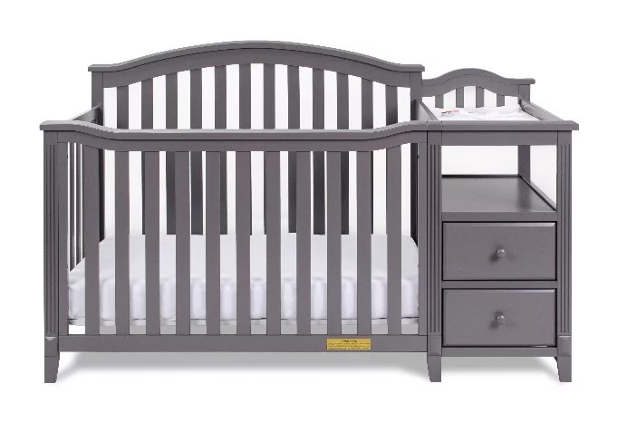 kali 4 in 1 convertible crib and changer gray