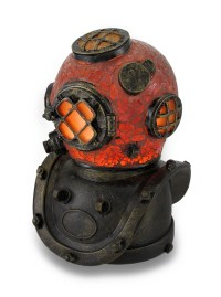 Deep Sea Diver Helmet Crackled Glass Accent Lamp 8 Inches ...