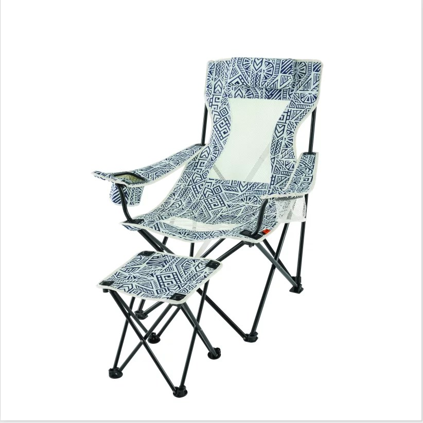 folding chair with footrest used ivory covers for sale ozark trail lounge detached walmart com