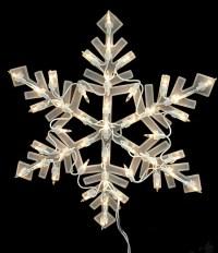"16"" Lighted Snowflake Christmas Window Silhouette ..."