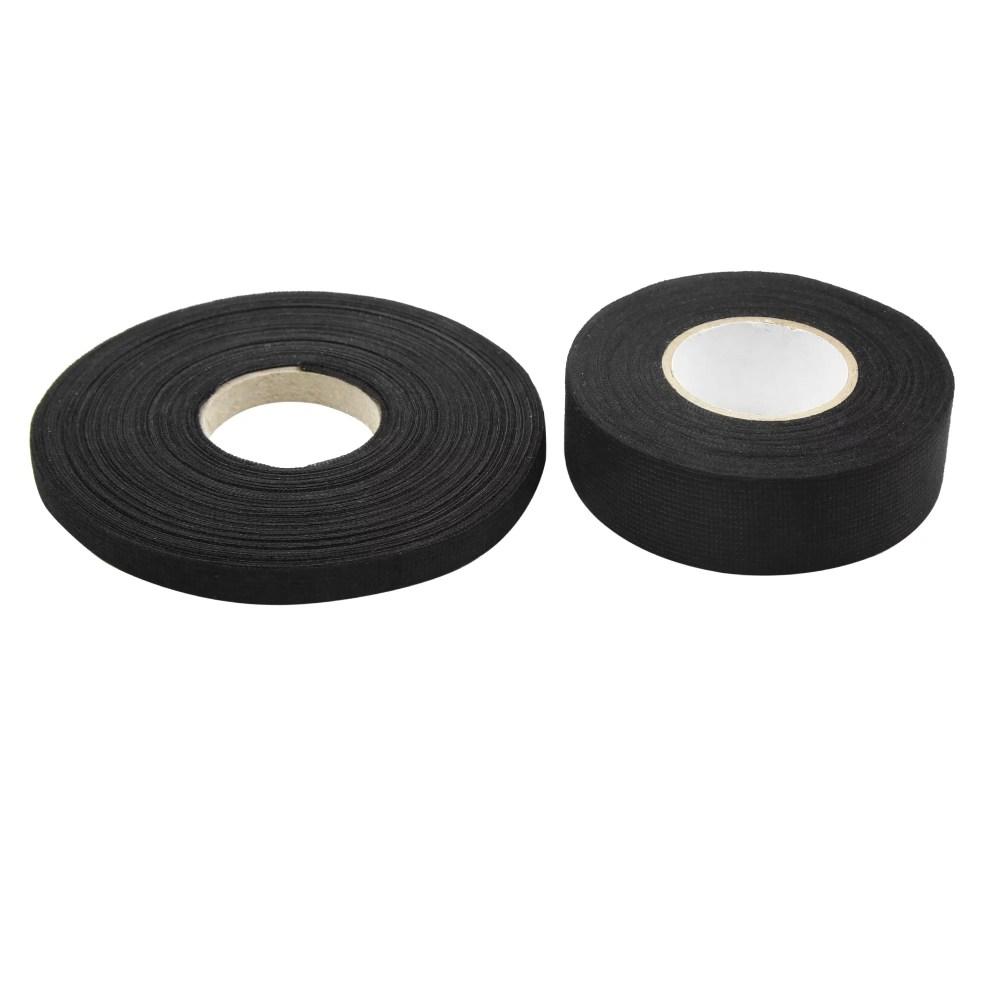 medium resolution of 2 in 1 black universal adhesive fabric cloth auto car wire harness looms tape walmart com