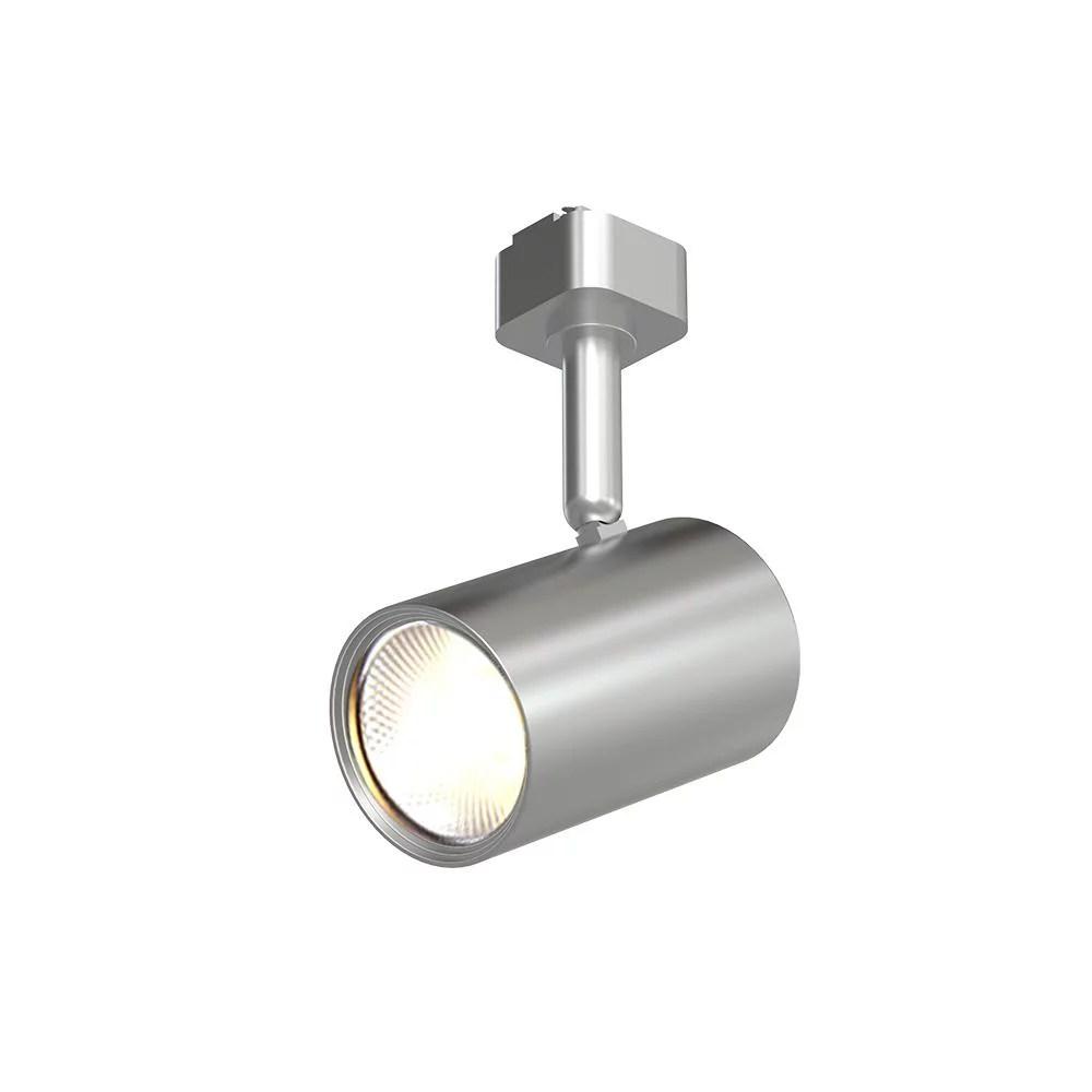 hampton bay 1 light brushed nickel integrated led mini cylinder linear track lighting head new open box walmart com