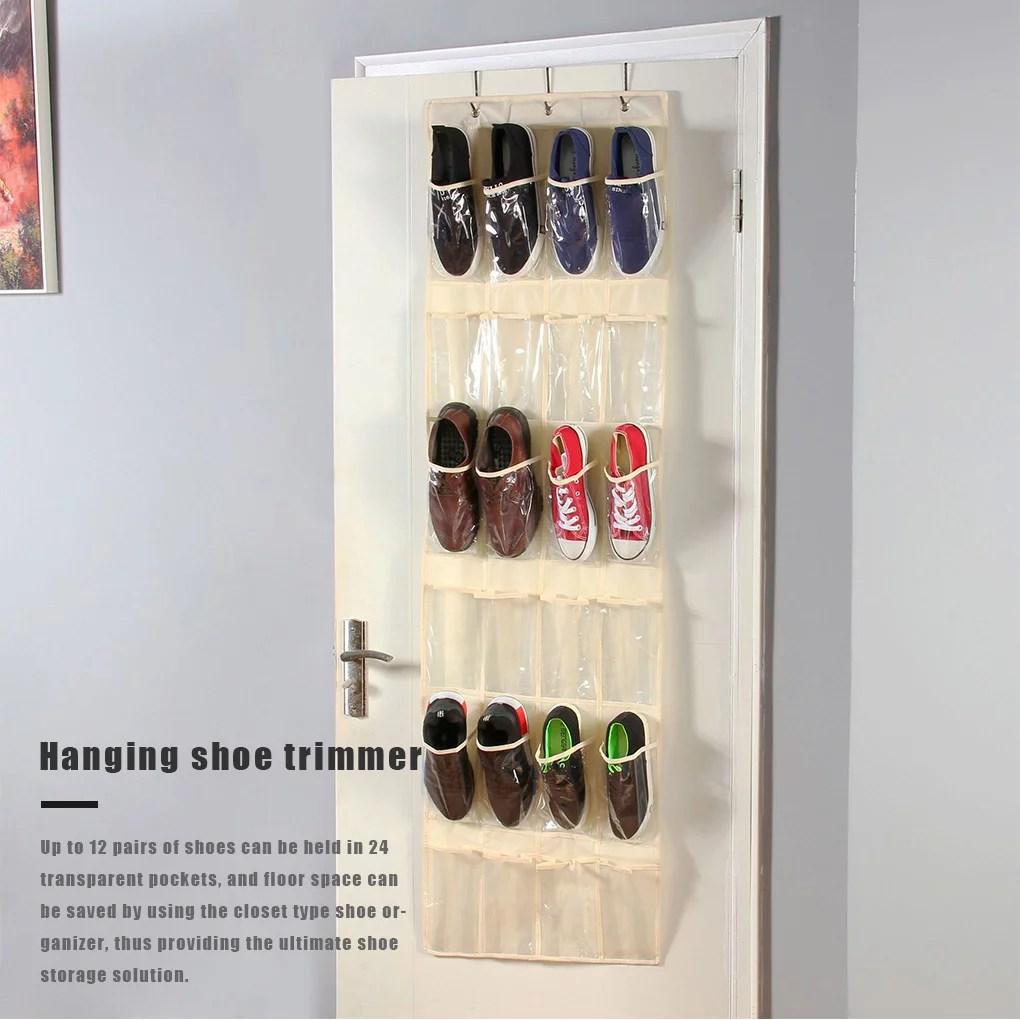 robot gxg over the door shoe organizer shoe hanging storage rack 24 pockets clear pockets over the door hanging shoe organizer hanging shoe