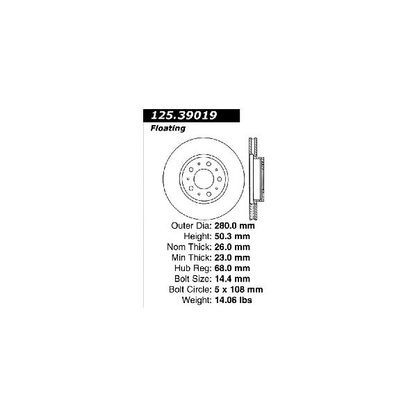 Go-Parts OE Replacement for 1994-1997 Volvo 850 Front Disc
