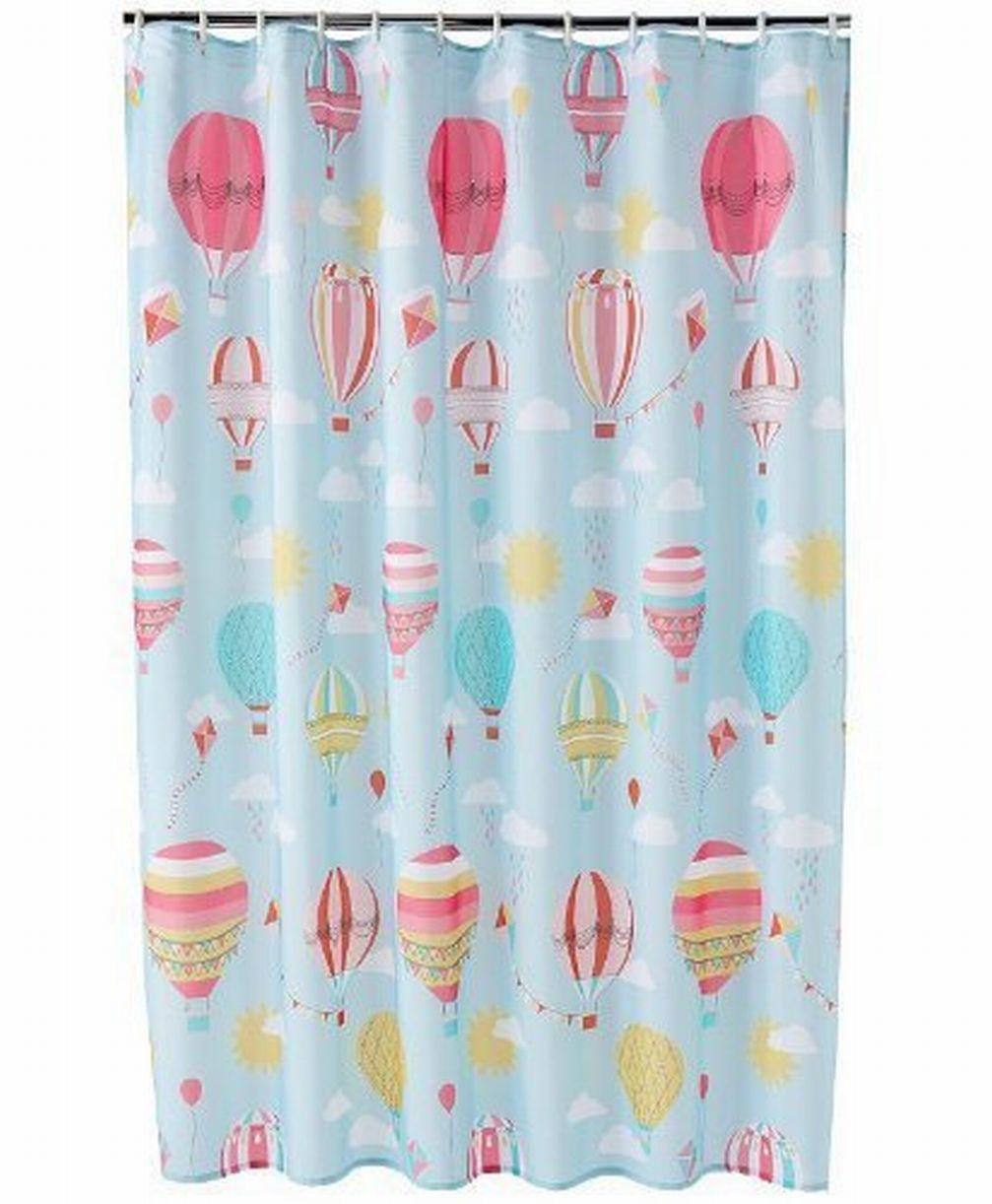 jumping beans in the air fabric shower curtain hot air balloon kids bath