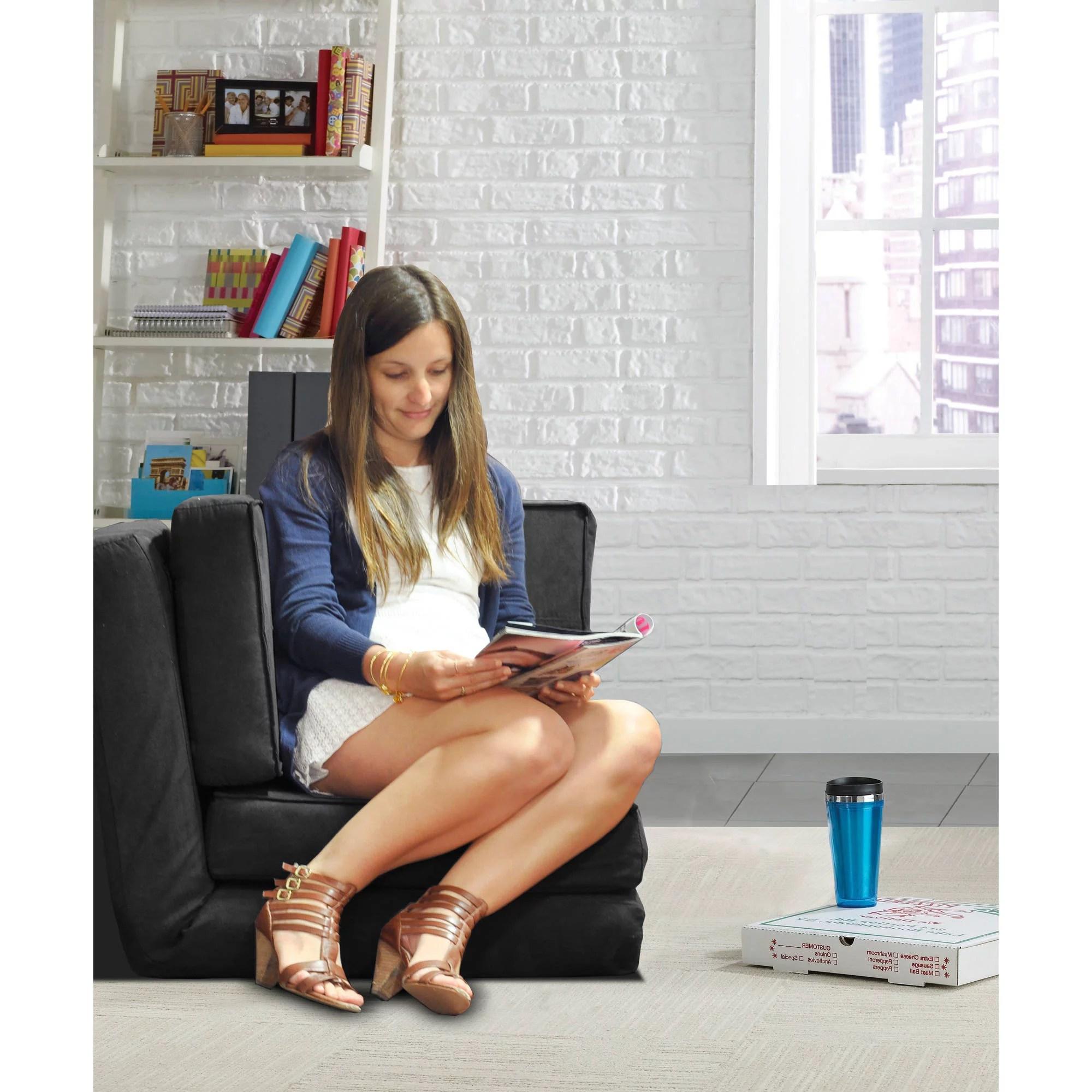 your zone flip chair green glaze baby sofa uk and corner set multiple colors walmart com