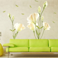 Wall Stickers Living Room Sofas For Uk Decals Walmart Com Product Image Outgeek Removable Oil Proof Lily Pattern Art Mural Home Bedroom