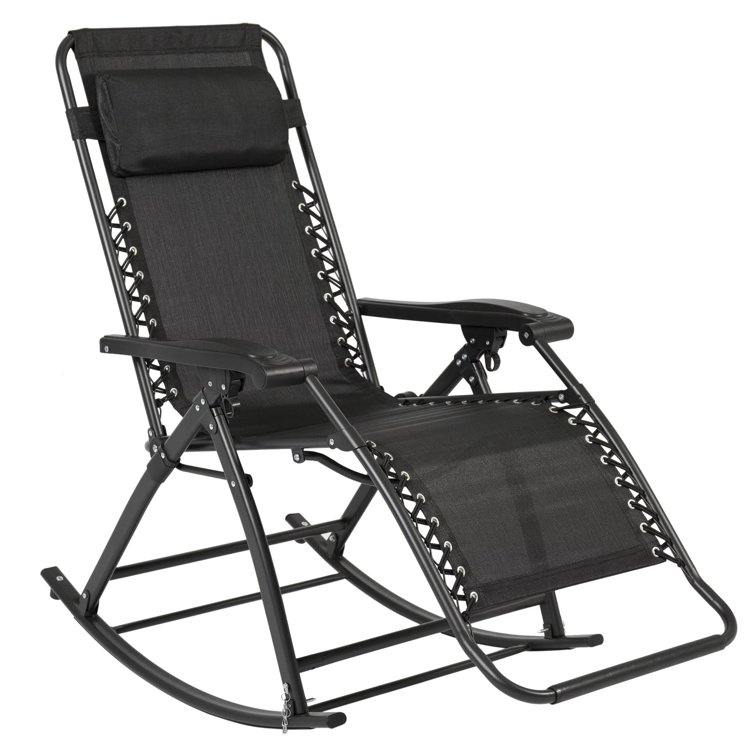 recliner lawn chairs folding chair with stool best choice products foldable zero gravity rocking patio walmart com