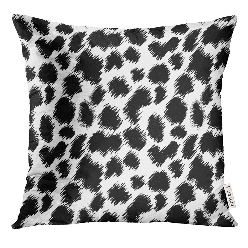 arhome watercolor cheetah abstract with black and white leopard pillow case 20x20 inches pillowcase