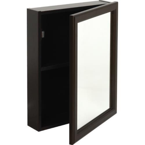 "16W X 20""H Surface Mount Espresso Wood Medicine Cabinet"