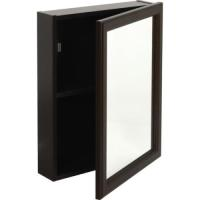 "16W X 20""H Surface Mount Espresso Wood Medicine Cabinet"