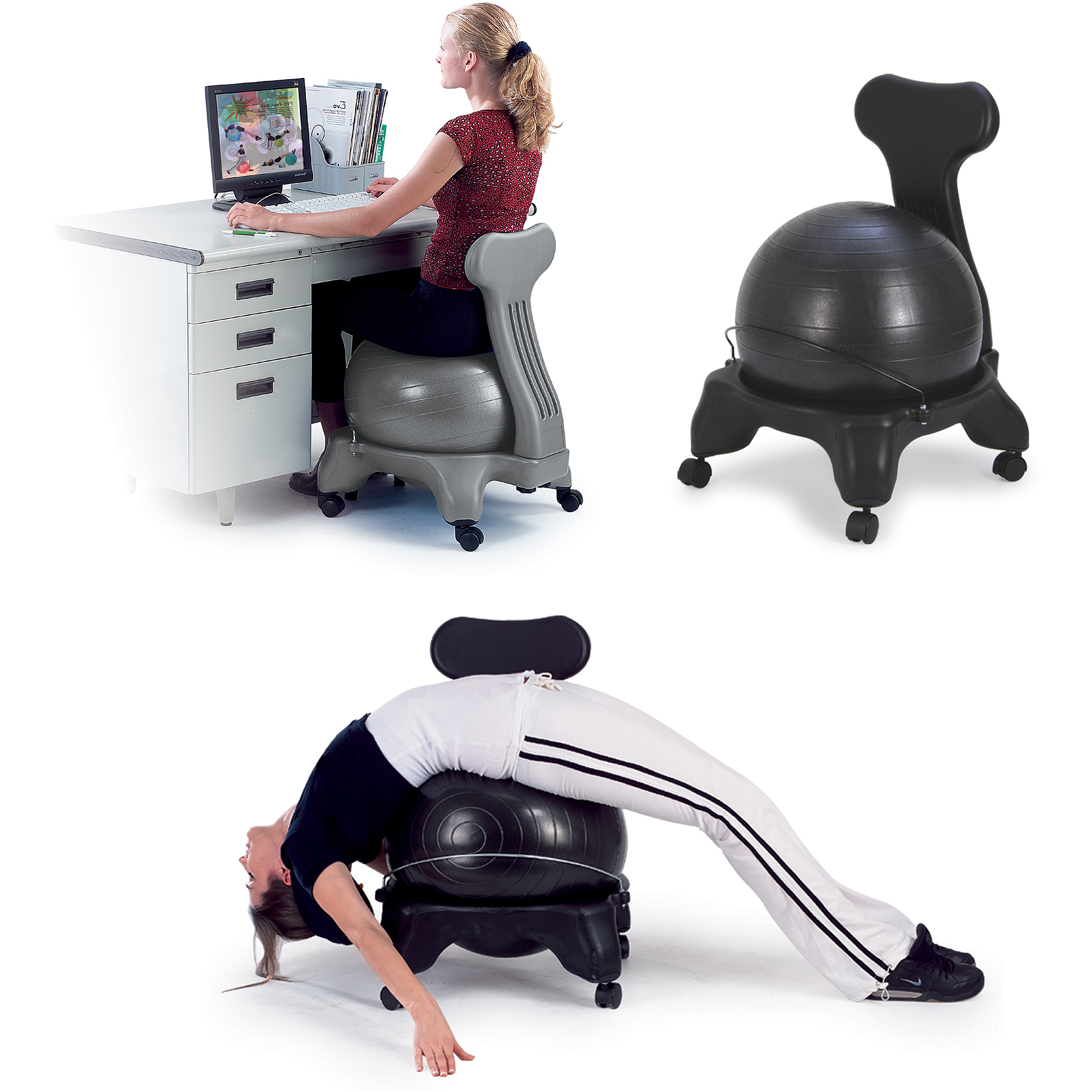 chair gym exercise manual aeron by herman miller ball seats