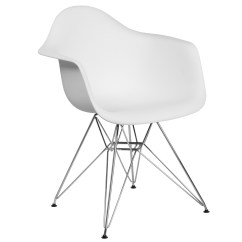 Walmart White Plastic Chairs Chair Rental New Orleans Flash Furniture Alonza Series With Chrome Base Com