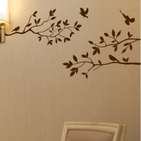 Innovative Stencils Tree Branches with Birds Wall Decal ...