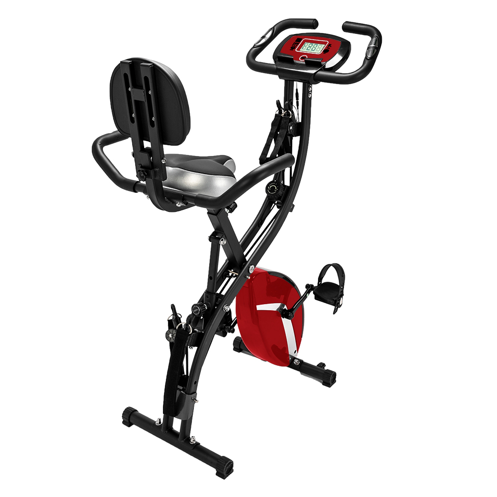 3-in-1 Cardio Folding Exercise Bike for home 8 Resistance ...