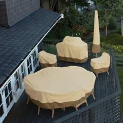 Patio Table And Chair Set Cover Chicco Polly High Toys R Us Classic Accessories Veranda Round Durable Water Resistant Outdoor Furniture Medium 78922 Walmart Com