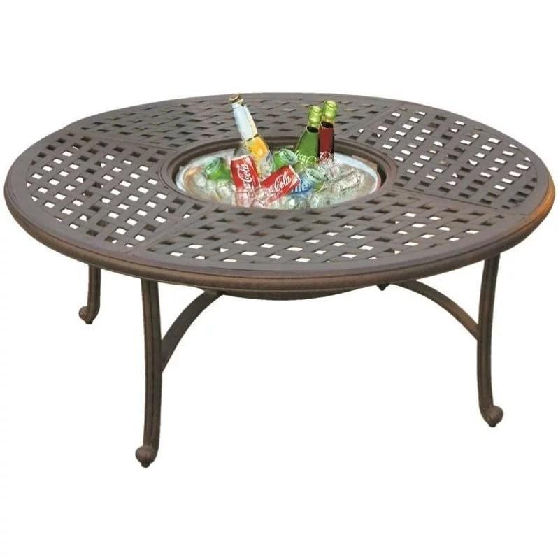 darlee series 30 52 round patio coffee table in antique bronze walmart com