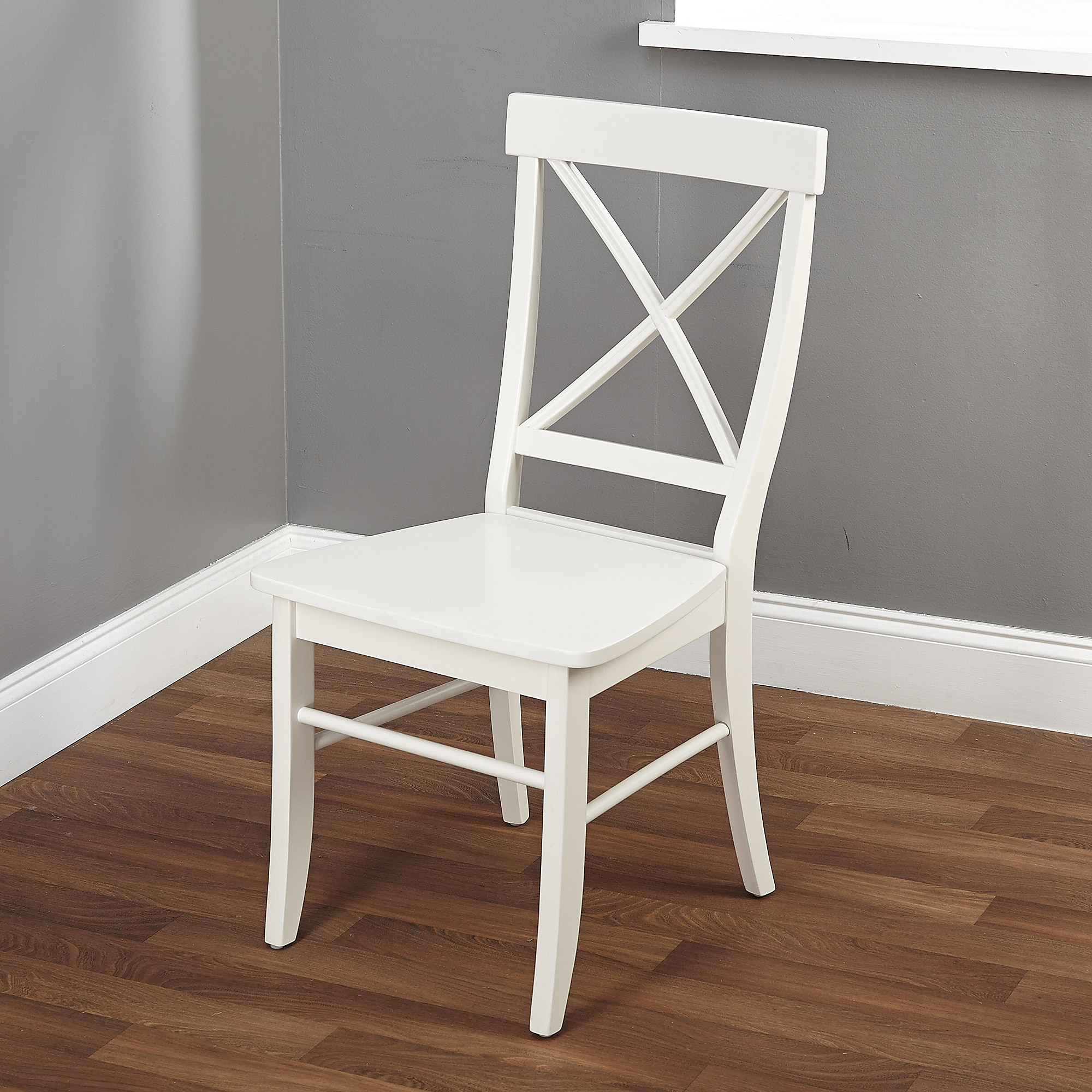 white wooden chair for desk wedding covers torquay easton crossback multiple colors walmart com