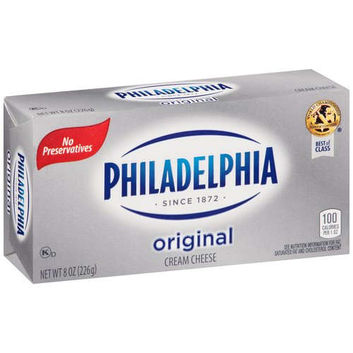 Philadelphia Original Cream Cheese 8 oz - Walmart.com