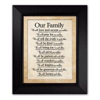 Lighthouse Christian Products Our Family Framed Wall Art ...
