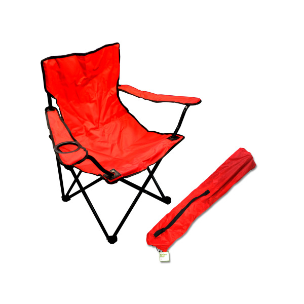 portable folding chairs upholstered chair with drink holder pack of 1 walmart com