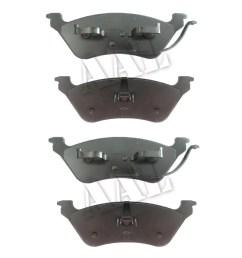aal premium ceramic rear brake pads for 2002 2003 2004 2005 2006 2007 dodge grand caravan disco disco complete set 4 pieces walmart com [ 1031 x 1031 Pixel ]